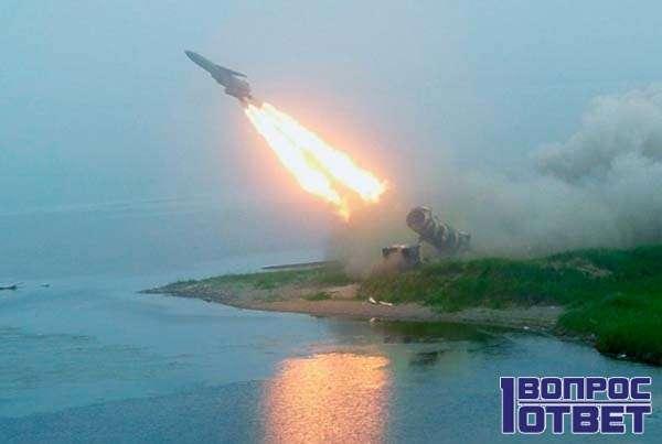 Запуск гиперзвуковой ракеты с острова