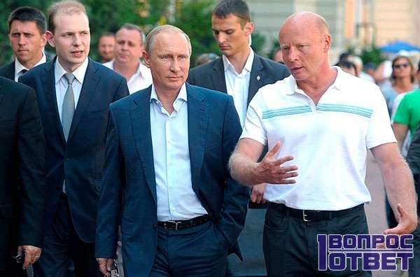 Бачин и Путин на встрече